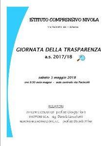 Giornata della trasparenza a.s. 2017-18
